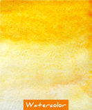 Yellow abstract watercolor hand draw background Stock Photo