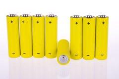 Yellow accumulators Royalty Free Stock Photos