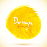 Yellow acrylic paint circle Royalty Free Stock Images