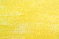 Yellow acrylic on paper texture Royalty Free Stock Photography