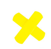 Yellow adhesive bandage in x shape Royalty Free Stock Photography