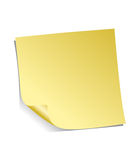 Yellow Adhesive Note. Isolated on white background with soft shadow Royalty Free Stock Images