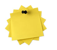 Yellow adhesive note  isolated Royalty Free Stock Images