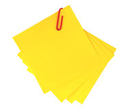 Yellow adhesive note  isolated Stock Photo