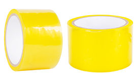 Yellow adhesive tape Royalty Free Stock Photo
