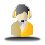 Yellow admin online shop Icon Royalty Free Stock Image