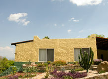 Yellow adobe Mexican house Royalty Free Stock Photo