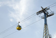 Yellow aerial tramway Royalty Free Stock Images
