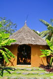 Yellow africa soil house Royalty Free Stock Image