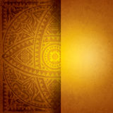 Yellow African background design. Stock Photos