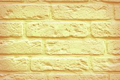 Yellow aged bricks Royalty Free Stock Photos