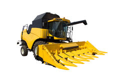 Yellow agricultural harvester Stock Image