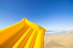 Yellow air mattress Stock Images