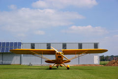 Yellow airplane Royalty Free Stock Photo