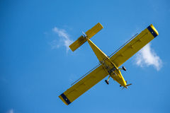 Yellow Airplane Royalty Free Stock Images