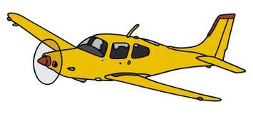 Yellow airplane Stock Image