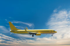 Yellow airplane Royalty Free Stock Photography