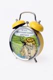 Yellow Alarm Clock. Royalty Free Stock Photography