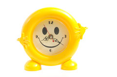 Yellow alarm-clock Royalty Free Stock Photos