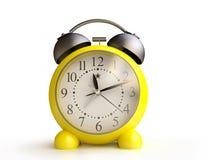 Yellow Alarm Clock in 3D. Yellow Alarm Clock in 3D Royalty Free Stock Photo