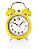 Yellow alarm clock Royalty Free Stock Photography