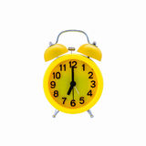 Yellow alarm clock Stock Photography