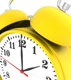 Yellow alarm clock Royalty Free Stock Photo