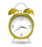 Yellow alarm clock. Vector Stock Image