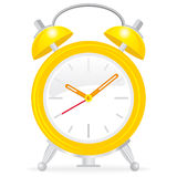 Yellow alarm clock Stock Photo