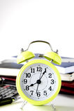 Yellow alarm clock Royalty Free Stock Images