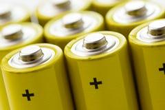 Yellow alkaline batteries Royalty Free Stock Image