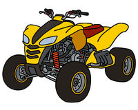 Yellow all terrain vehicle Royalty Free Stock Image