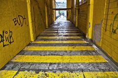 Yellow alley Stock Images