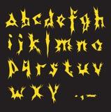 Yellow alphabet. Stock Photos