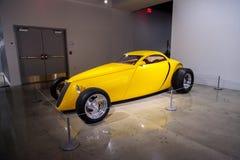 Yellow 1992 Aluma coupe Stock Photos
