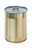Yellow aluminum tin can. Stock Photography