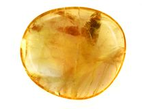 Yellow amber mineral Stock Photos