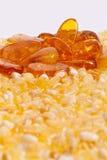 Yellow amber stones . Stock Photography