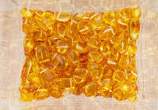 Yellow amber stones. Royalty Free Stock Photography