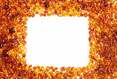 Yellow amber stones. Royalty Free Stock Images