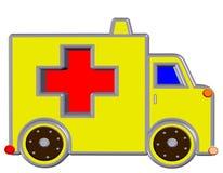 Yellow ambulance, Stock Photo