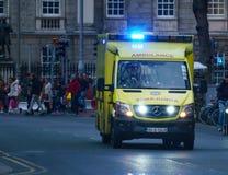 Yellow ambulance, Dublin Royalty Free Stock Image