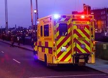 Yellow ambulance, Dublin Stock Photos