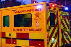 Yellow ambulance, Dublin Stock Image