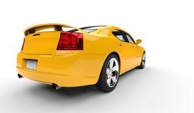 Yellow American Car Stock Image