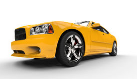 Yellow American Car - Front View Stock Photos