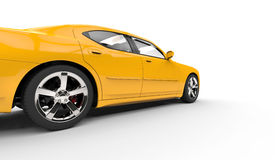 Yellow American Car - Speed Shot Stock Images
