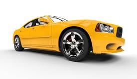 Yellow American Car Royalty Free Stock Image