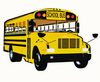 Yellow american school bus Royalty Free Stock Images