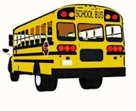 Yellow american school bus. A retro style yellow american school bus Royalty Free Stock Images